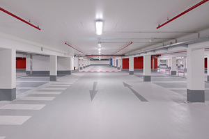 """<div class=""""bildtext_en"""">Walls and column bases of an underground parking lot in Dinslaken were repaired with the Stocrete TS 100 dry spray mortar </div>"""