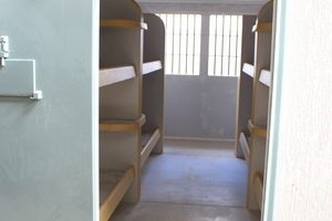 "<div class=""bildtext_en"">Even the furniture of the prison cells is made of vandalism-proof high-performance concrete </div>"