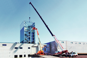 """<div class=""""bildtext_en"""">Completion of stair tower and bucket elevator </div>"""