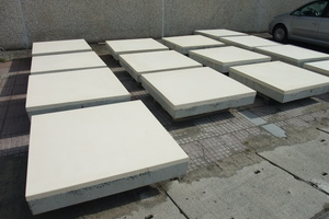 """<div class=""""bildtext_en"""">The wear surface of the panels (at a unit spacing of 1.35 m) is approx. 5 cm</div>"""