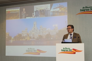 "<div class=""bildtext_en"">The last BIBM congress took place in Madrid in 2017, here Dr. Ulrich Lotz of FBF Betondienst</div>"