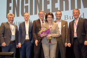 "<div class=""bildtext_en"">Christian Hanser and Stefan Maier from RIB SAA, Christian and Jana Prilhofer from Prilhofer Consulting, Werner Maresch from Precast Software Engineering and Robert Neubauer from RIB SAA </div>"