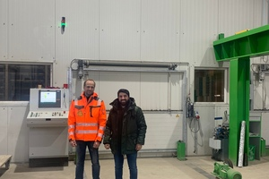 """<div class=""""bildtext_en"""">Thomas Feigl, plant manager (left), and Talahat Akcay, of Curetec, are very happy with the outcome of the joint project </div>"""