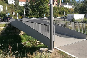"<div class=""bildtext_en"">A world premiere: a footbridge erected with carbon concrete in the German city of Albstadt in 2015 with a dead weight of just under half that of a comparable construction of steel, also prefabricated</div>"