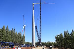 """<div class=""""bildtext"""">Jeder Turm besteht aus 22 Fertigteilelementen mit einer Länge von 20m und einem Gewicht von ca. 50t pro Bogenelement </div>"""