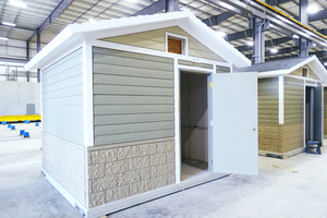 "<div class=""bildtext_en"">Huffcutt manufactures sanitary houses from solid concrete elements and assembles them directly in the plant, already completed with all sanitary facilities</div>"