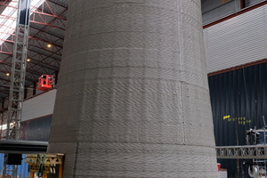 """<div class=""""bildtext_en"""">GE Renewable Energy, COBOD and LafargeHolcim co-develop record-tall wind turbine towers with 3D-printed concrete bases</div>"""