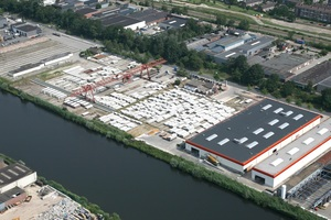 """<div class=""""bildtext_en"""">Orion Beton is producing in Enschede – in the picture, the headquarters with their own precast concrete plant</div>"""