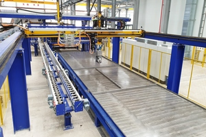 """<div class=""""bildtext_en"""">The Smart Set robot line at MyHome works with the highest travel speeds and accelerations during the shuttering and de-shuttering process</div>"""