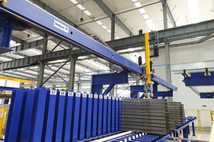 """<div class=""""bildtext_en"""">A Smart Store magazining robot takes over the intermediate storage of the stop ends after the de-shuttering and cleaning process in the intermediate storage magazines </div>"""