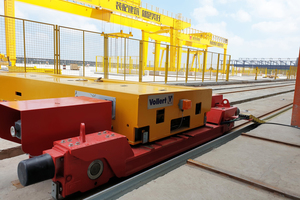 """<div class=""""bildtext_en"""">A fully automatic central transfer car is used for distributing the precast concrete elements to the intermediate storage positions in the outdoor area</div>"""