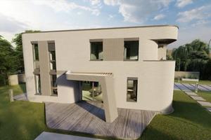 """<div class=""""bildtext"""">Visualisierung des Wohnhauses, das in Beckum mittels 3D-Druck entsteht</div>"""