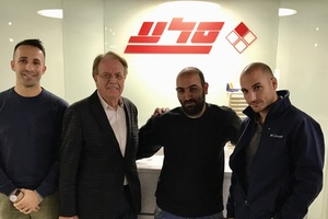 """<div class=""""bildtext_en"""">Gabriele Falchetti (MCT Middle East Area Manager), Lamberto Marcantonini (MCT Italy President), Ran Tshuva and Ben Tshuva (from left to right)</div>"""