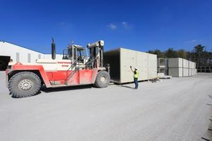 "<div class=""bildtext_en"">After interim storage, the precast products are delivered to the job site just in time </div>"