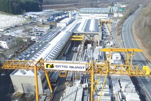 """<div class=""""bildtext_en"""">Aerial view of the precasting plant of Otto Quast in Freudenberg, Germany </div>"""