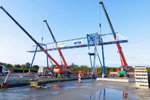 "<div class=""bildtext_en"">For the precaster VBI, Teichmann Krane delivered a completely newly constructed 8-ton gantry crane to Oostermer (NL)</div>"