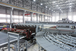 "<div class=""bildtext_en"">Austrian equipment manufacturer EVG supplied the fully automated mesh-welding unit and lattice girder production line</div>"