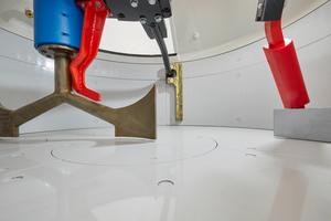"""<div class=""""bildtext"""">Der Turbinenmischer THT 500 ist bei schwierigen Mischaufgaben und selbstverdichtendem und ultrahochfestem Beton im Einsatz</div>"""