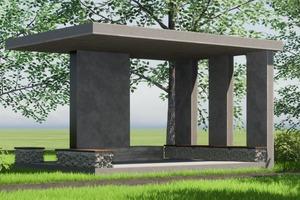 """<div class=""""bildtext"""">Visualisierung des Pavillons </div>"""