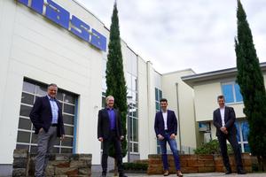 """<div class=""""bildtext_en"""">Frank Reschke, Ulrich Paul, Marcel Helsper and Volker Zurheide (from left to right)</div>"""
