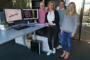 """<div class=""""bildtext_en"""">For the team at IBC, the change to 3D is the admission ticket to the world of BIM: Thorsten Karg, Susanne Jäck, Steven Knoll, Daniela Lapke (from left to right)</div>"""