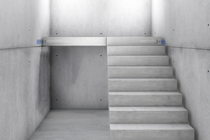 """<div class=""""bildtext_en"""">The Type P Tronsole developed by Schöck makes it possible to install slender architectural concrete stair landings</div>"""
