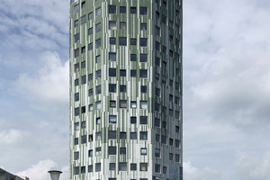 """<div class=""""bildtext"""">South view of the students' residence seen from Poortstraat</div>"""
