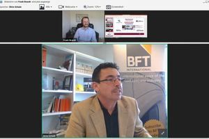 "<div class=""bildtext_en"">Once again, Silvio Schade, BFT International editor-in-chief, moderated the Innovation Forum </div>"