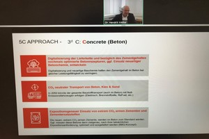 """<div class=""""bildtext_en"""">The decarbonization of cement and concrete was one of the key topics covered in the program</div>"""