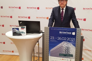 "<div class=""bildtext_en"">Dr. Ulrich Lotz, managing director of FBF Betondienst GmbH, opened the virtual BetonTage event</div>"