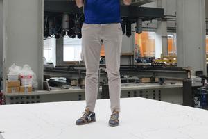 """<div class=""""bildtext"""">Jan Ungermann, wissenschaftlicher Mitarbeiter an der Fakultät für Bauingenieurwesen an der RWTH Aachen University, macht eine aktive Kaffeepause</div>"""