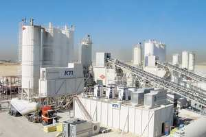 """<div class=""""bildtext_en"""">KTI-Plersch concrete cooling systems provide the capacity for producing a total of 2.6millionm³ of cooled concrete; the image shows units installed on the Dubai International Airport construction site</div>"""