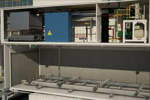 """<div class=""""bildtext_en"""">Section of a KTI-Plersch plate-ice plant positioned on top of an automatic ice storage system</div>"""