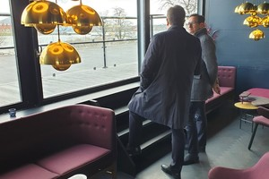 """<div class=""""bildtext_en"""">The BCF managing directors, Dr. Ulrich Lotz (left) and Michael Voss, during their pre-visit to the Langelinie Pavilion, where the evening get-together and gala dinner will take place</div>"""