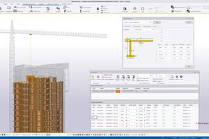"""<div class=""""bildtext"""">Die neue Erweiterung für das Crane Tool bietet umfassende Funktionalitäten, darunter Hubsimulationen, Hubkontrolle (Kapazität, Reichweite, Höhe und Versorgungspunkt) und die Berechnung von Montagezeiten</div>"""