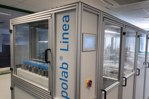 """<div class=""""bildtext_en"""">Fig. 2: The Polab Linea fully automated lab automation system is installed globally in many cement plants</div>"""