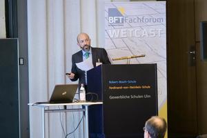 "<div class=""bildtext_en"">On November 25th, the BFT expert forum WetCast enters its second edition (here speaker Jürgen Reiser/Intexmo)</div>"