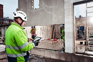 """<div class=""""bildtext_en"""">Manufacturing details and deliveries can be tracked at the construction site by using an intuitive 3D view of the building </div>"""