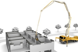"""<div class=""""bildtext_en"""">Systems based on a truck-mounted concrete pump are supposed to be able to produce complete, multiple-story buildings directly on the premises</div>"""