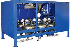 The Com 70-6 granule metering system was also presented at Bauma
