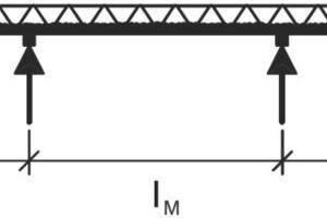 "<span class=""bildunterschrift_hervorgehoben"">Fig. 3 </span>Precast floor plate as continuous beam in the erection state. <br />"