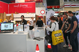 The trade fair booth of Bauverlag in hall B4 presented BFT International and other trade journals
