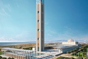 One of the largest mosques ever with the world's tallest minaret is being built in the Bay of Algiers at present