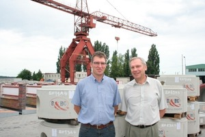 "<span class=""bildunterschrift_hervorgehoben"">Fig. 9</span> (left to right) Volker Nusser (BFS, Area Sales Manager) and Pavel Záhořík (B&amp;BC a.s., Production Manager) are very satisfied with the finished products.<br /><span class=""bildunterschrift_hervorgehoben"">Abb. 9</span> (v.l.) Volker Nusser (BFS, Area Sales Manager) und Pavel Záhořík (B&amp;BC a.s., Produktionsleiter) sind sehr zufrieden mit den Endprodukten.<br />"