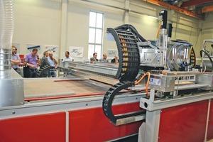 The SR-Schindler in-house exhibition presented CTG Jaguar1,200 as a new digital concrete enhancement system