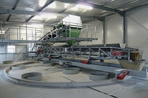 """<div class=""""bildtext_en"""">This intelligent Gasus shuttle conveyor, mounted on a carriage, is turnable and moveable and transfers the aggregates to the individual bins</div>"""