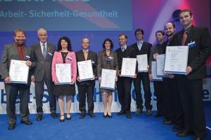 "<span class=""bildunterschrift_hervorgehoben"">Fig. 2</span> Many prize winners have been awarded in Essen - among them Dr. Palzer, Director of IFF Weimar e.V. (1<sup>st</sup> left).<br />"