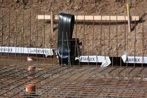 """<div class=""""bildunterschrift_en"""">Pentaflex KG, sealing element, expansion joint connection and floor duct before concrete placement</div>"""