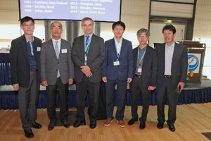 """<div class=""""bildtext_en"""">David R. Smith, Technical Director of the Interlocking Concrete Pavement Institute (ICPI) and new SEPT CEO, with the delegation from Seoul who will organize the next ICCBP 2018 in the South Korean capital</div>"""