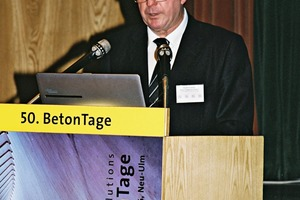 """<div class=""""bildtext_en"""">Harald Sommer, former President ofFBF, welcomed the guests of the 50<sup>th</sup> BetonTage anniversary</div>"""